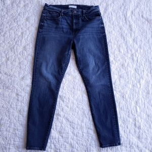 LOFT Modern High Waist Skinny Ankle Jeans